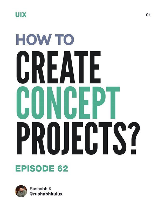 how to create concept projects