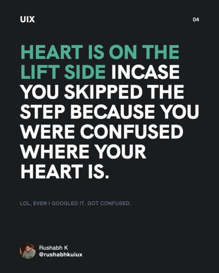 heart is on the lift side