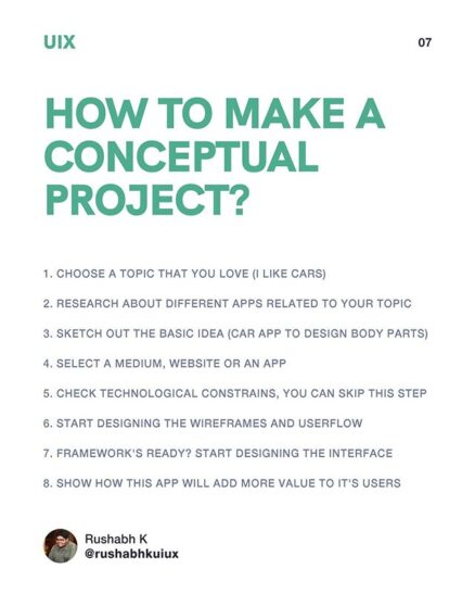 How to make conceptual