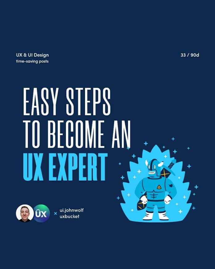 become UX expert - first slide