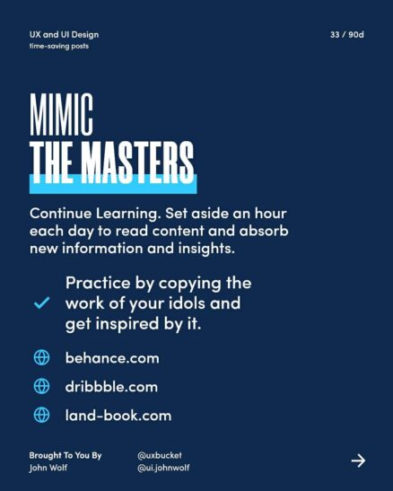 mimic the masters