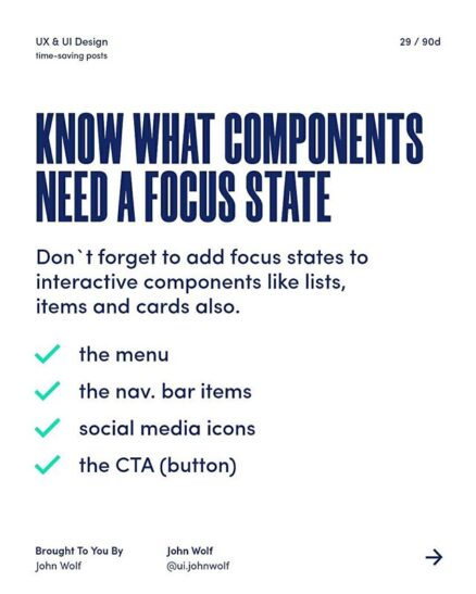 know what components need a focus states